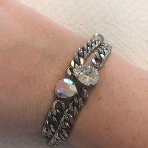 Swarovski Crystal Pendant Bracelet Duo